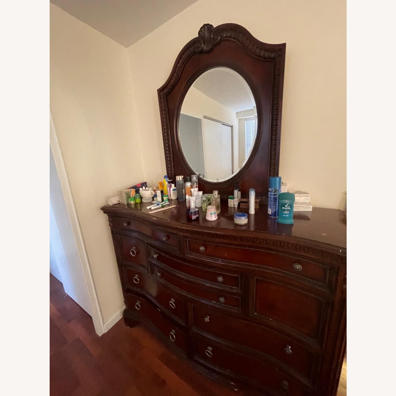 Antique Original Wood Dresser / Mirror - image-3