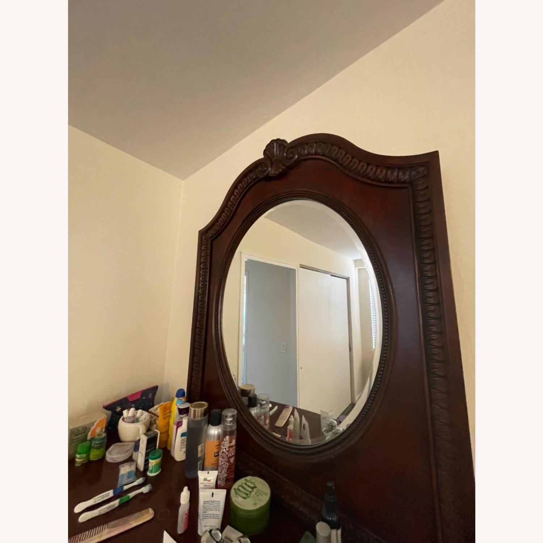 Antique Original Wood Dresser / Mirror - image-4