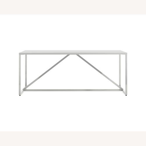 "Used Strut Blu Dot Table - 75"" White for sale on AptDeco"