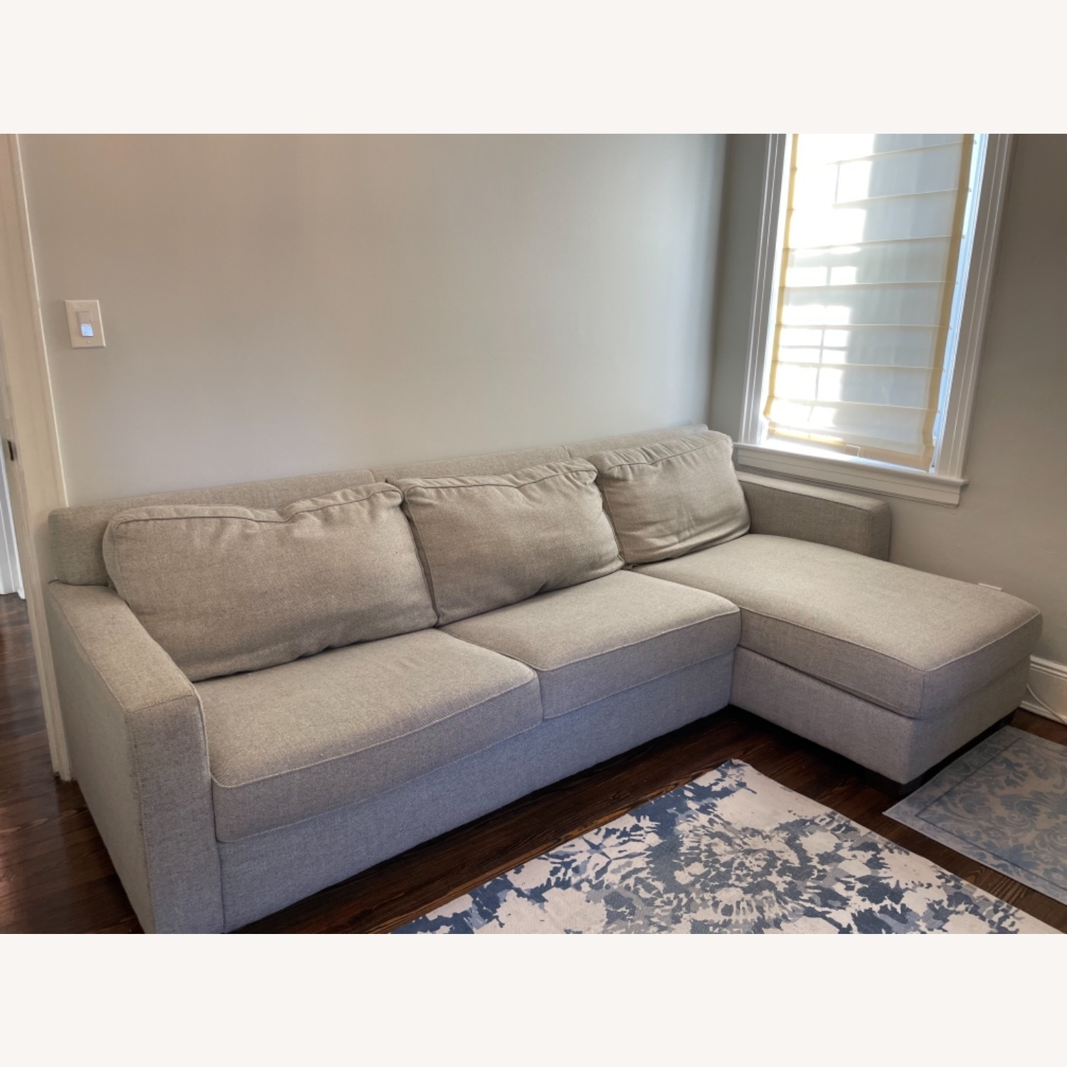 West Elm Henry Sleeper Sofa with Storage Chaise - image-7