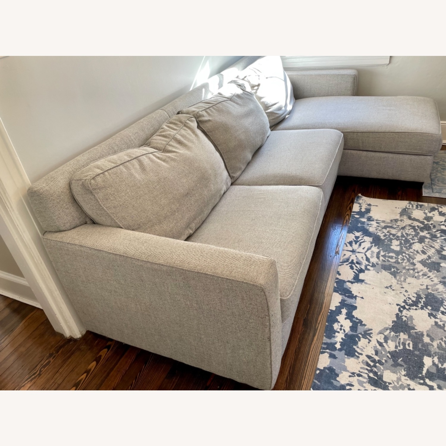 West Elm Henry Sleeper Sofa with Storage Chaise - image-6