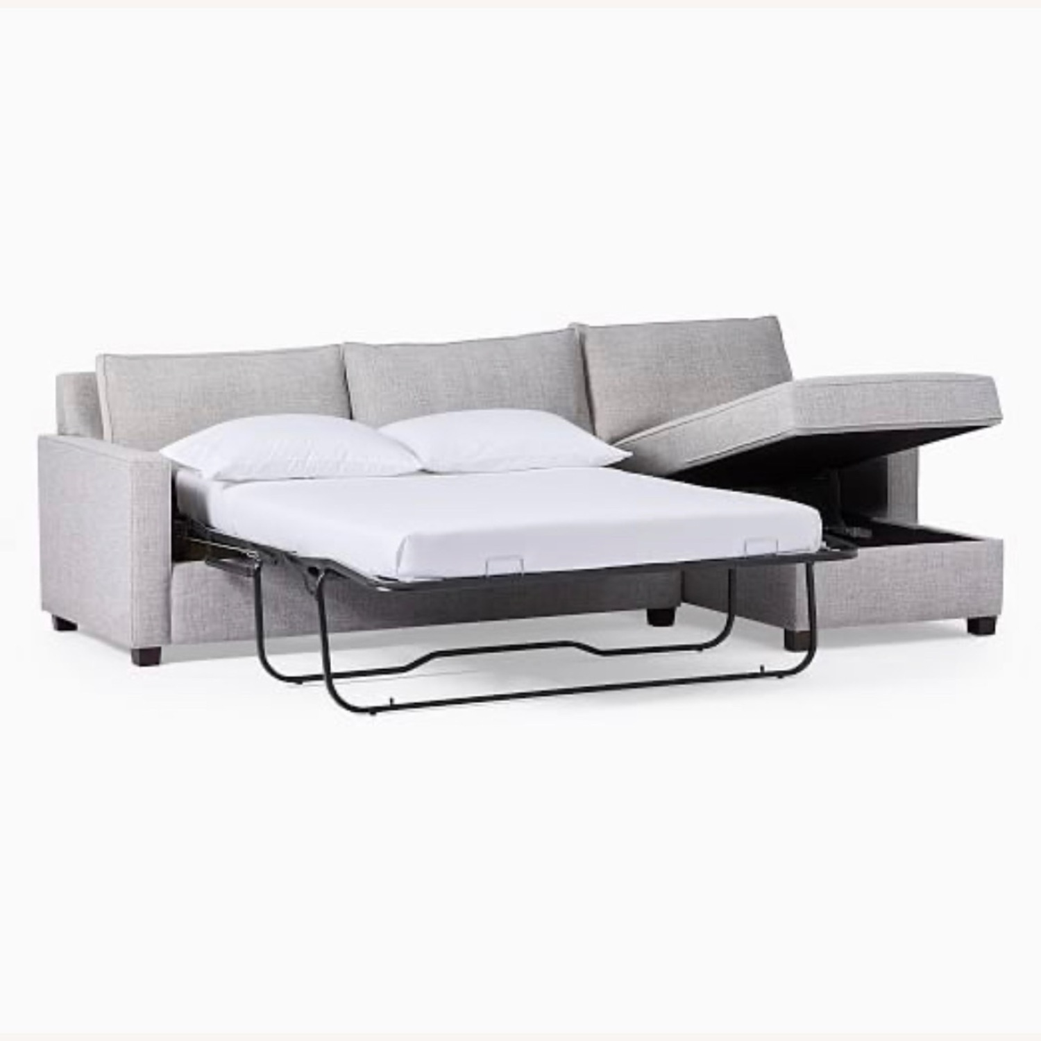West Elm Henry Sleeper Sofa with Storage Chaise - image-0