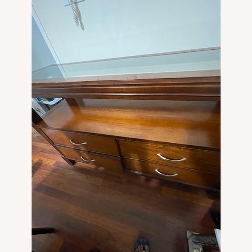 Used Cherry Wood Hutch with Deep Storage for sale on AptDeco