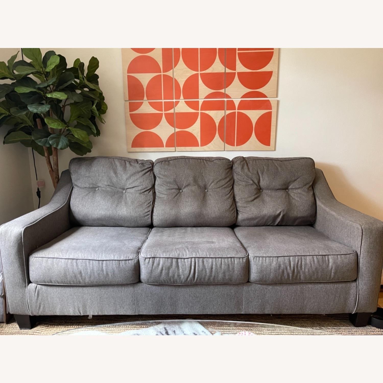 Jennifer Convertibles Grey Sleeper Mid Century Sofa - image-6