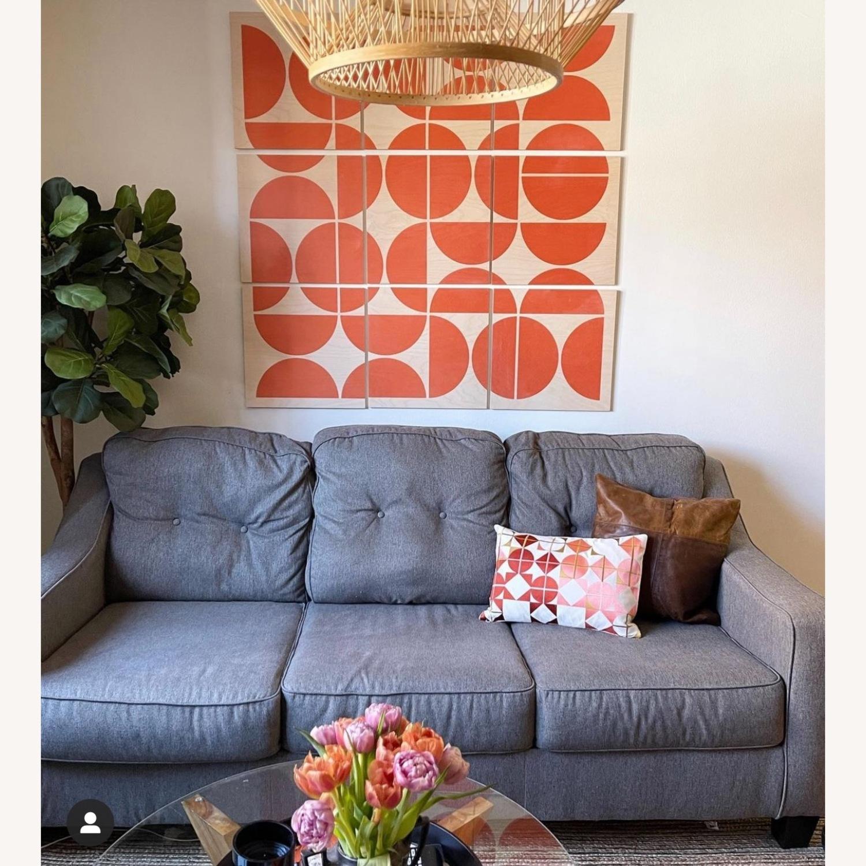 Jennifer Convertibles Grey Sleeper Mid Century Sofa - image-2