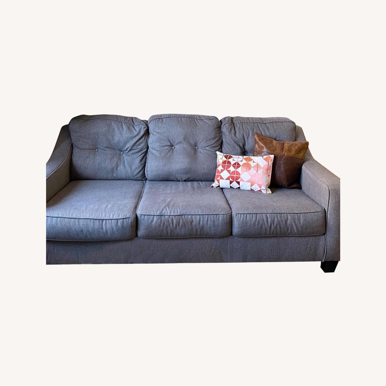Jennifer Convertibles Grey Sleeper Mid Century Sofa - image-0