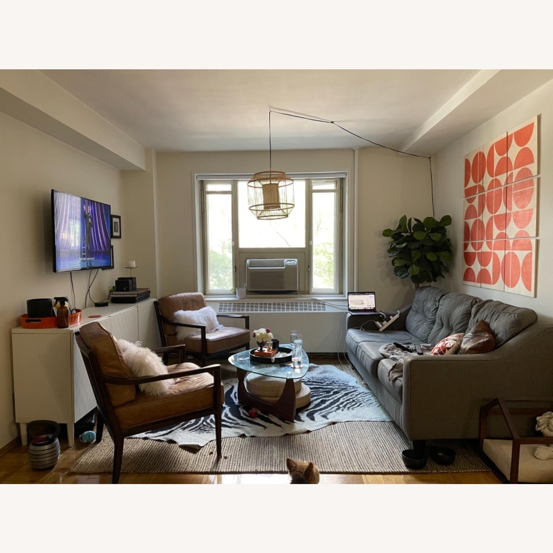 Jennifer Convertibles Grey Sleeper Mid Century Sofa - image-1