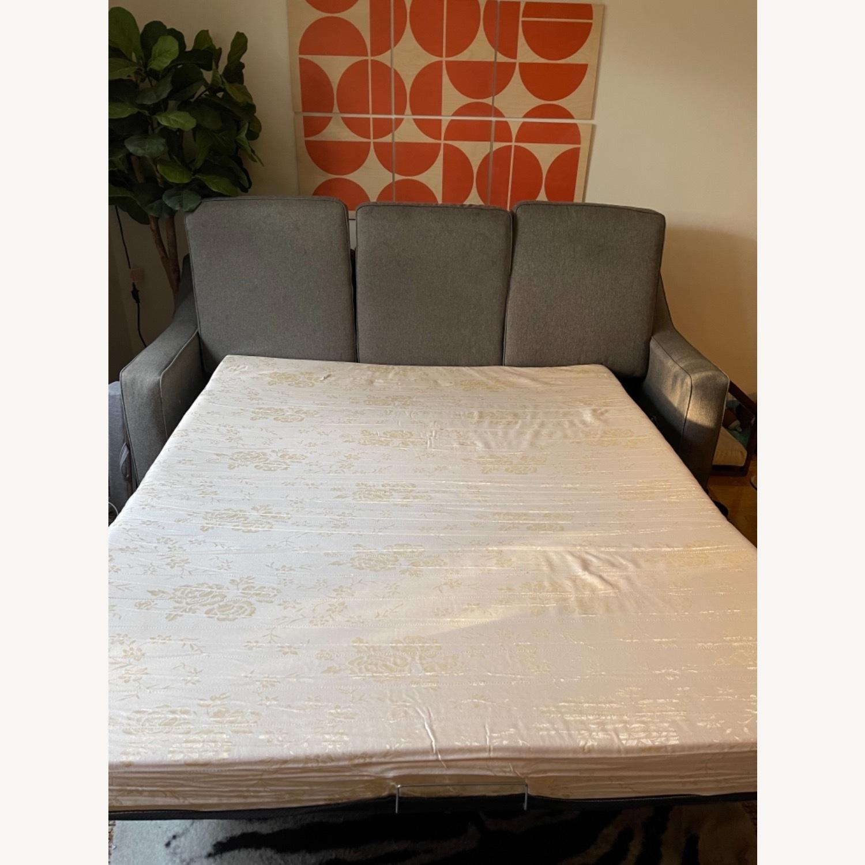 Jennifer Convertibles Grey Sleeper Mid Century Sofa - image-4