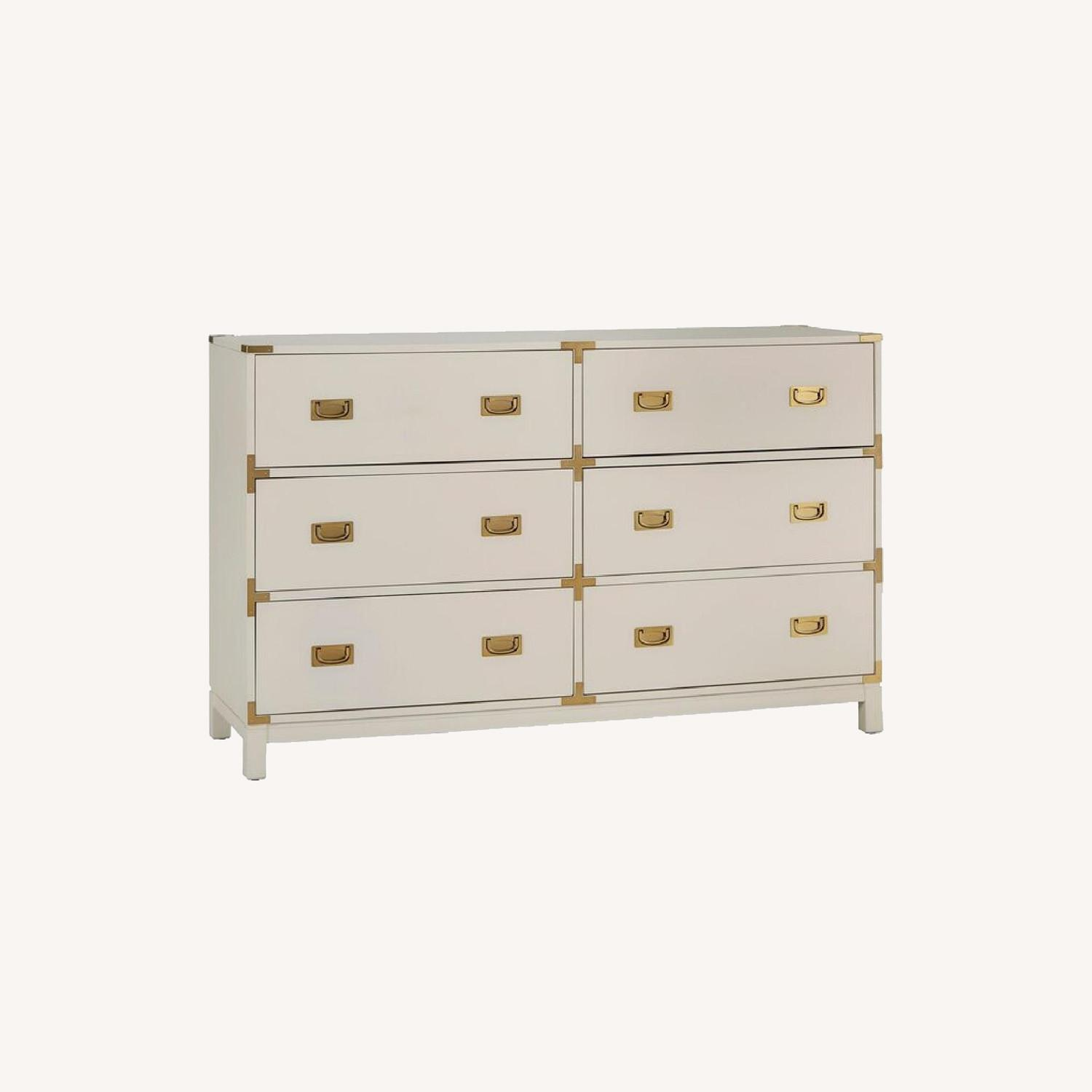 Wayfair White and Gold Campaign Dresser - image-0