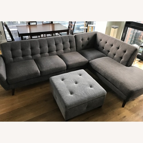 Used Gray L Sectional Sofa for sale on AptDeco
