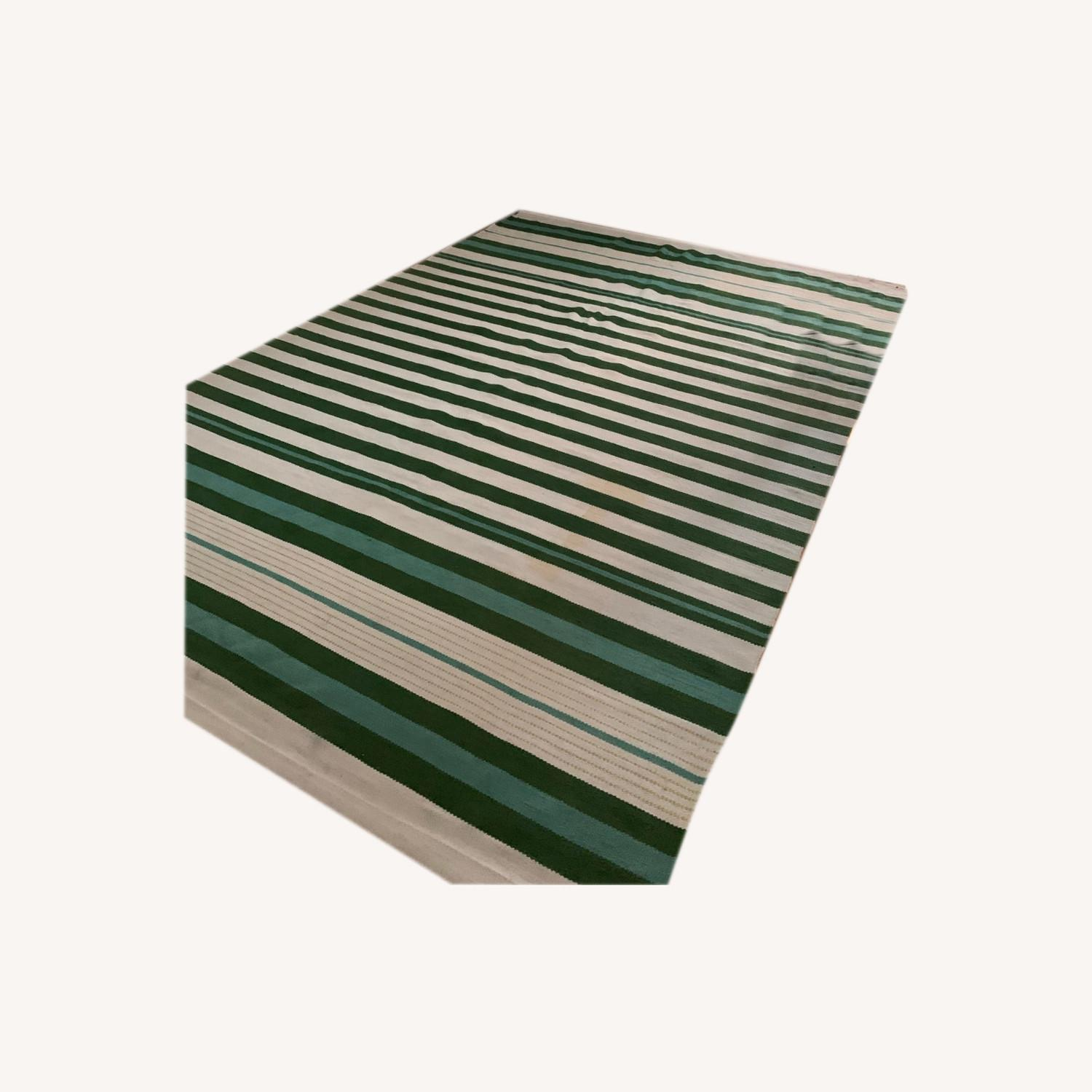 Target Teal Green Striped Woven Rug 7 x 10 - image-4