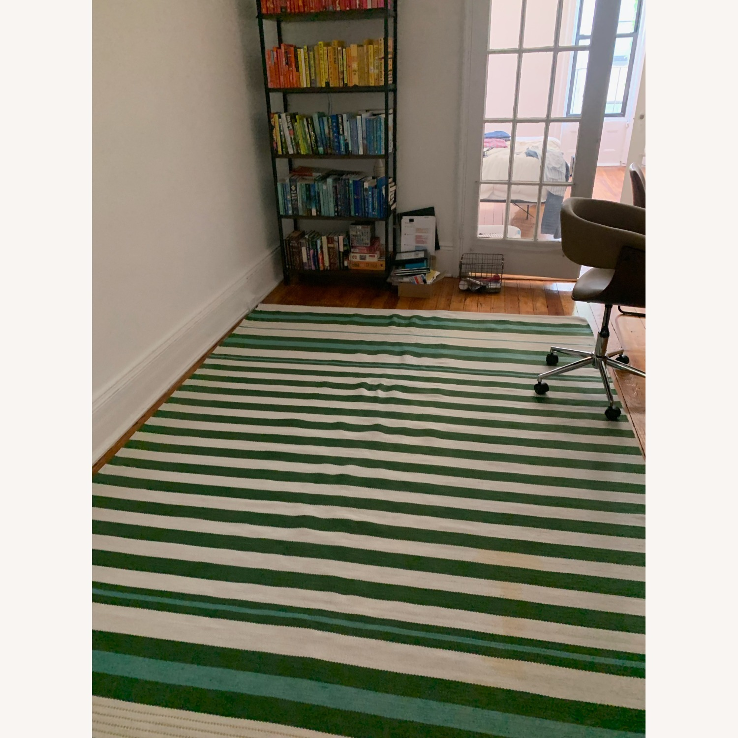 Target Teal Green Striped Woven Rug 7 x 10 - image-2
