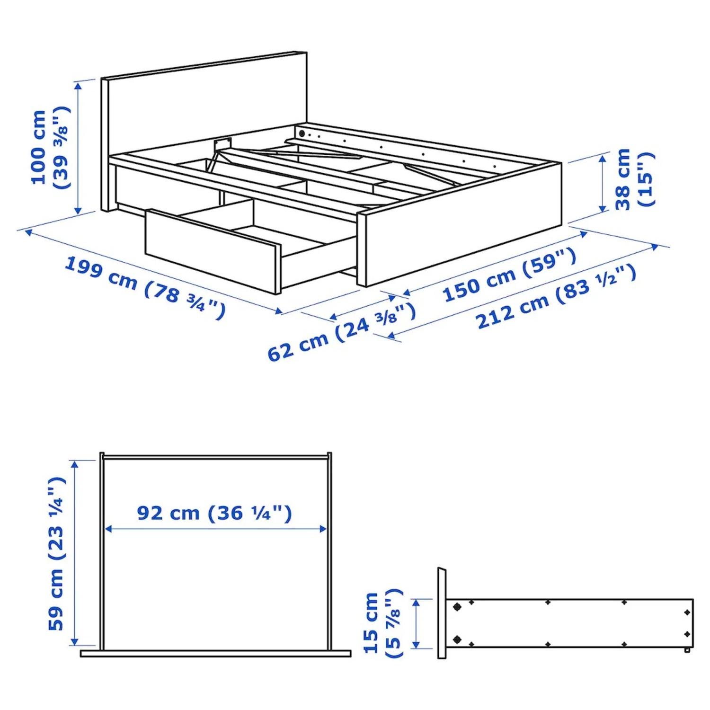 IKEA Full Storage bed - image-5