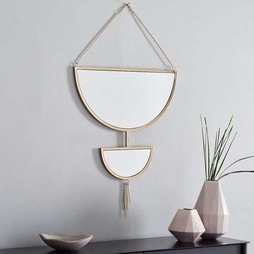 Used West Elm Hanging Half Moon Mirror for sale on AptDeco