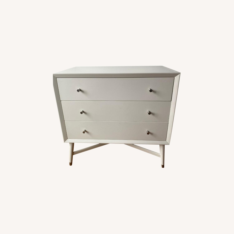 3 Drawer White Dresser by Dwell Studio - image-0