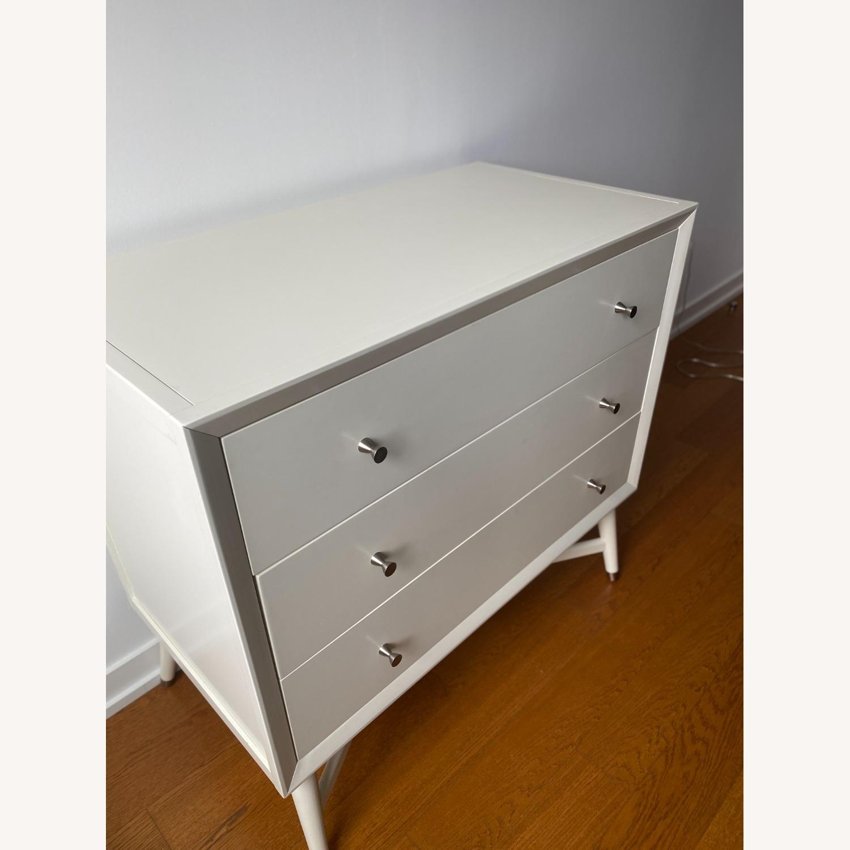 3 Drawer White Dresser by Dwell Studio - image-2