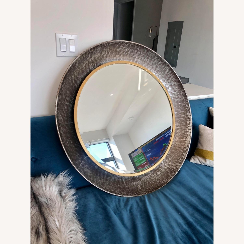 Wayfair Round Silver Metal Framed Accent Mirror - image-2