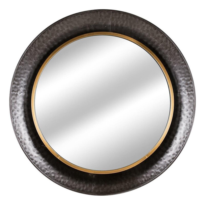 Wayfair Round Silver Metal Framed Accent Mirror - image-5