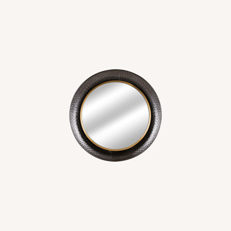 Wayfair Round Silver Metal Framed Accent Mirror - image-0