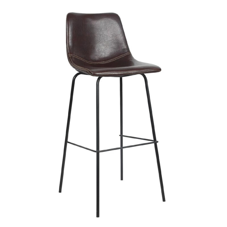 Wayfair Extra Tall Leather Barstools, Set of 4 - image-4