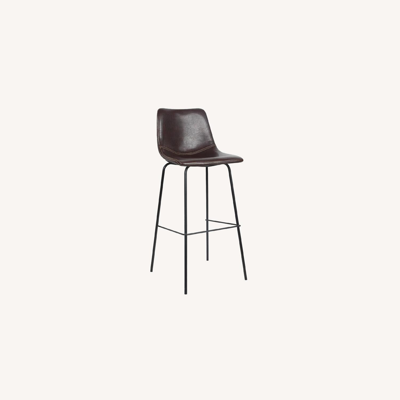 Wayfair Extra Tall Leather Barstools, Set of 4 - image-0