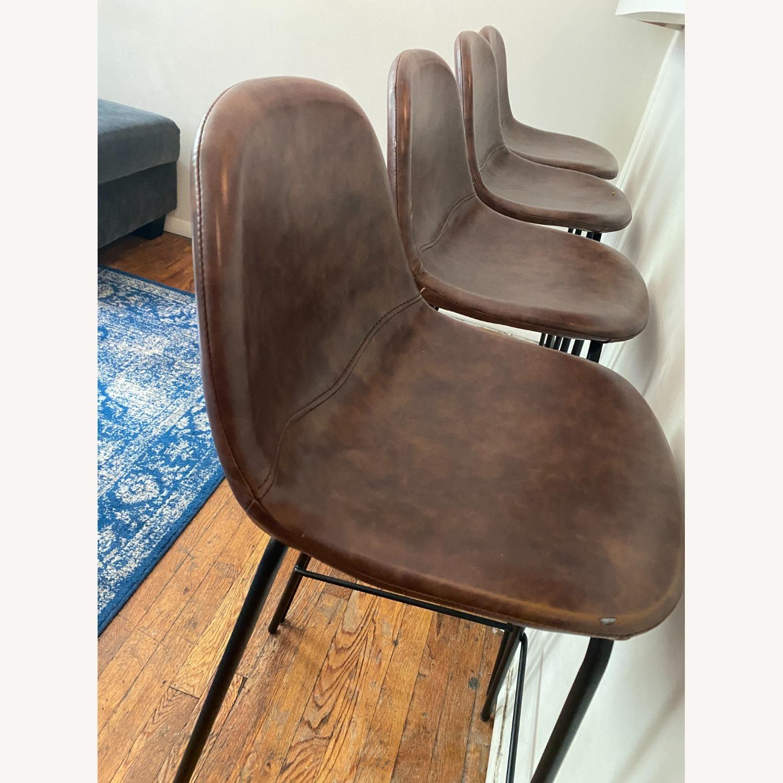 Wayfair Extra Tall Leather Barstools, Set of 4 - image-3