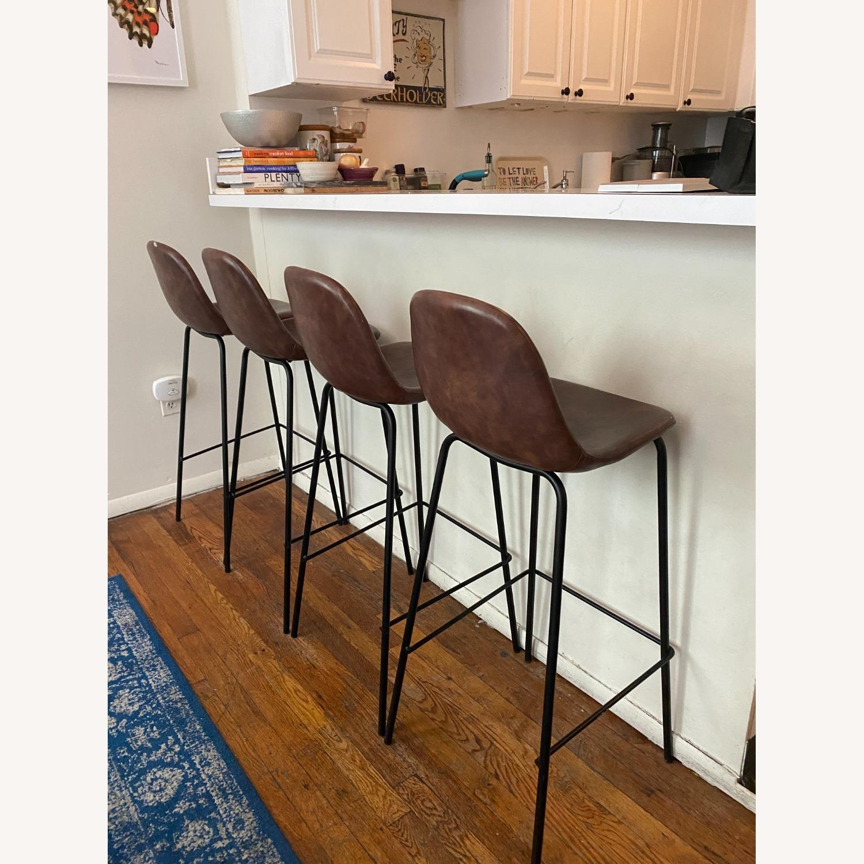Wayfair Extra Tall Leather Barstools, Set of 4 - image-1