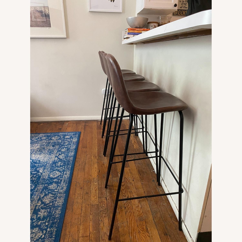 Wayfair Extra Tall Leather Barstools, Set of 4 - image-2