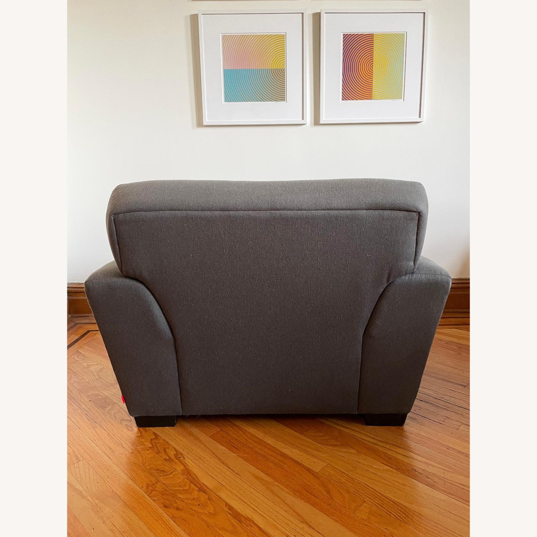 CB2 Slate Gray Armchair - image-3