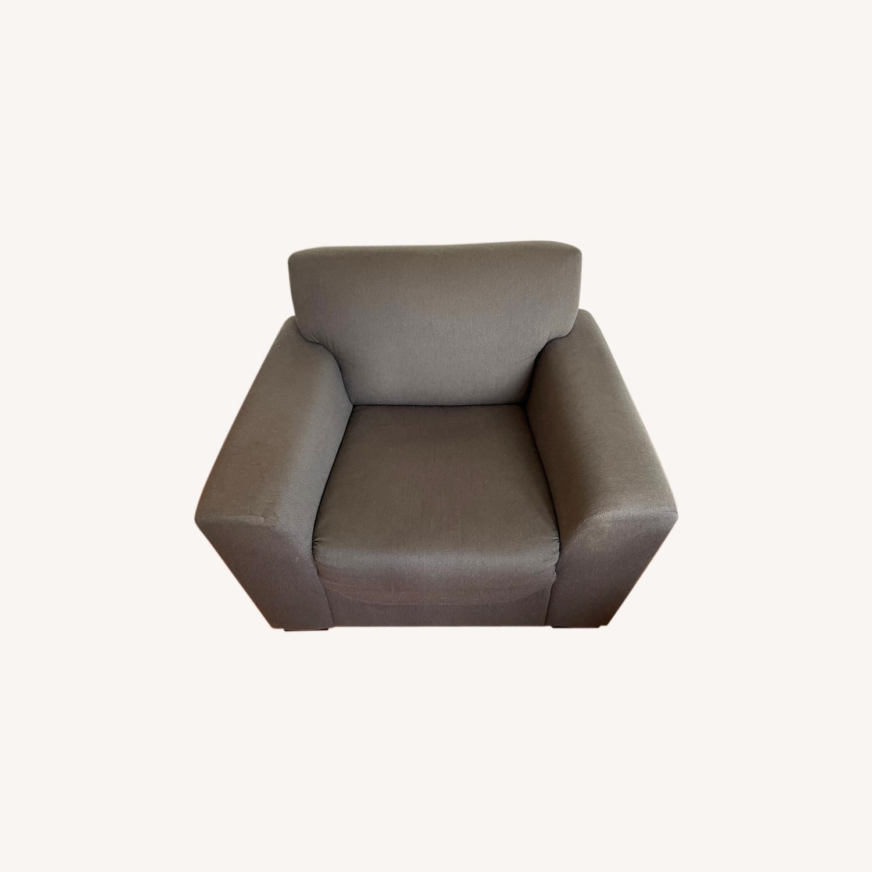 CB2 Slate Gray Armchair - image-0