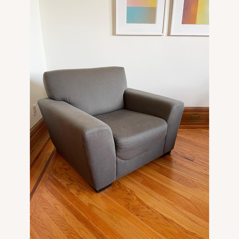CB2 Slate Gray Armchair - image-1