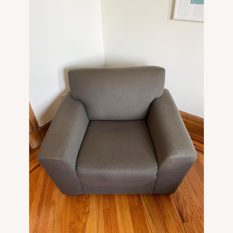 CB2 Slate Gray Armchair - image-2