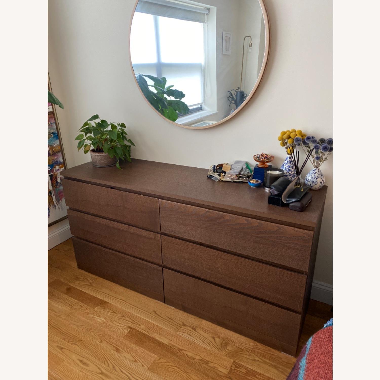IKEA MALM Brown Dresser - image-1