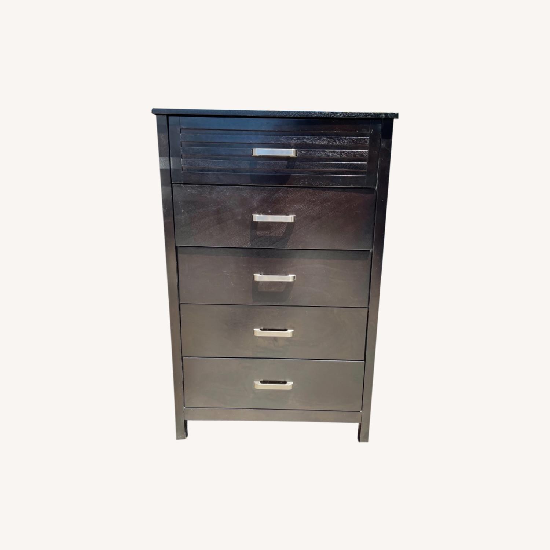 Chuanheng Furniture 5-Drawer Black Dresser - image-0
