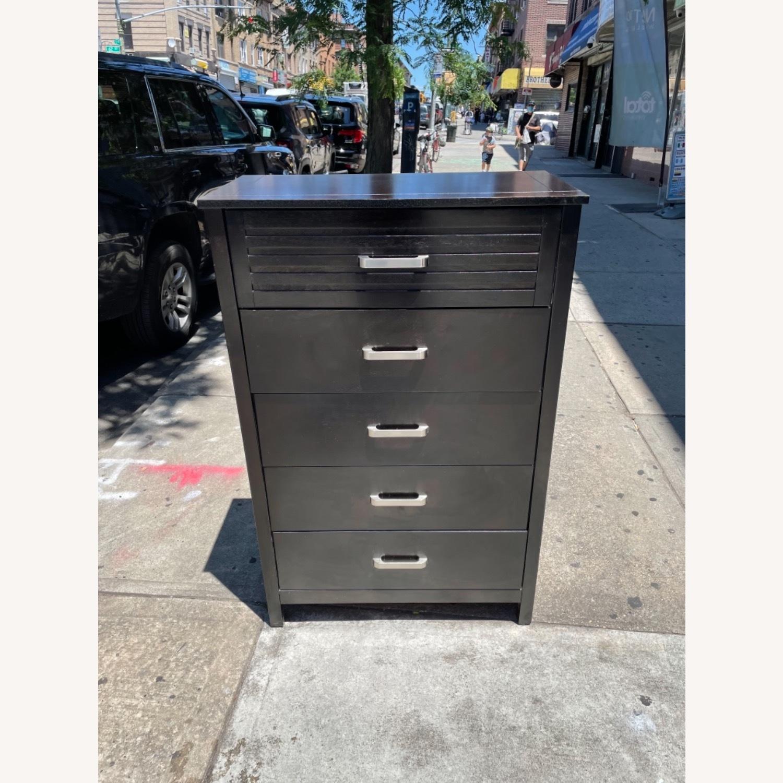 Chuanheng Furniture 5-Drawer Black Dresser - image-3