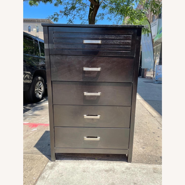 Chuanheng Furniture 5-Drawer Black Dresser - image-1