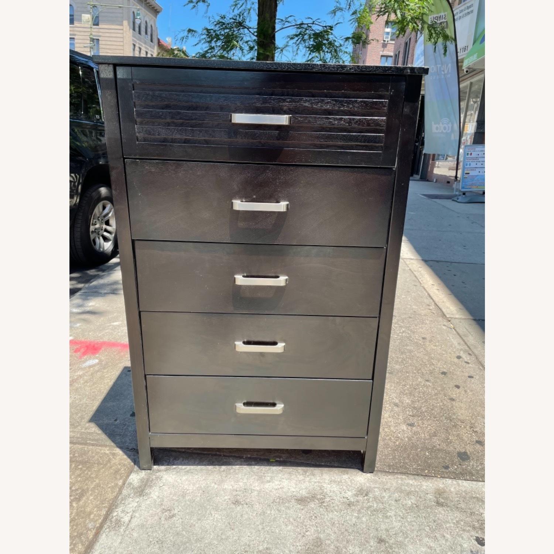 Chuanheng Furniture 5-Drawer Black Dresser - image-2