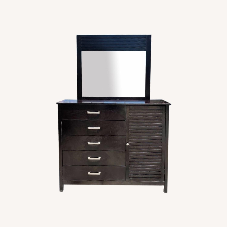 Chuanheng Furniture Black Dresser w/ Mirror - image-0