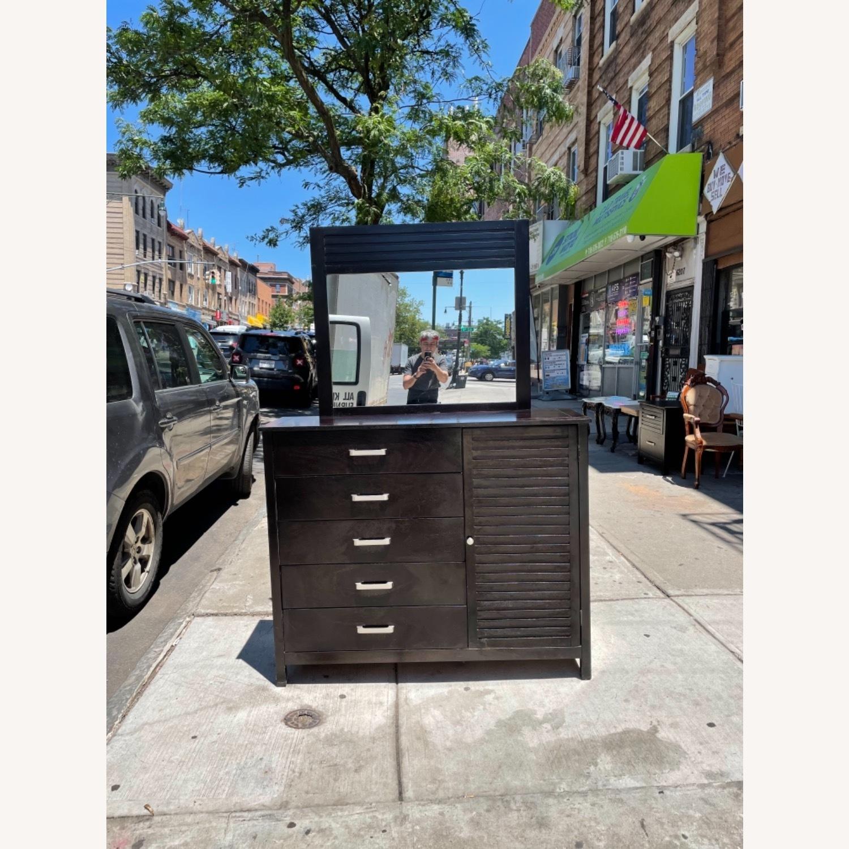 Chuanheng Furniture Black Dresser w/ Mirror - image-1