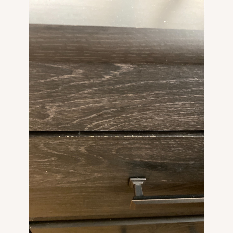 Ashley Furniture Dark Wood Nightstand with Metal Handles - image-4