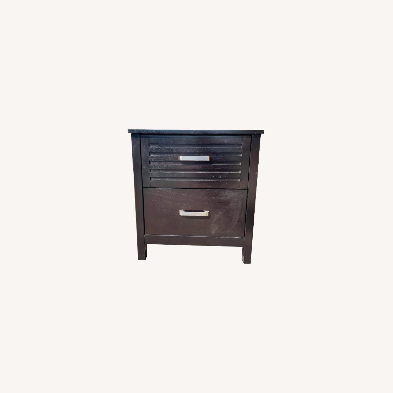 Chuanheng Furniture Black Nightstand - image-0
