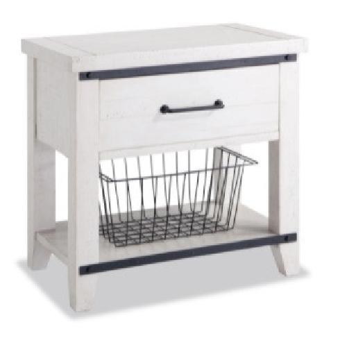 Used Bob's Discount Furniture Montana White Nightstand for sale on AptDeco