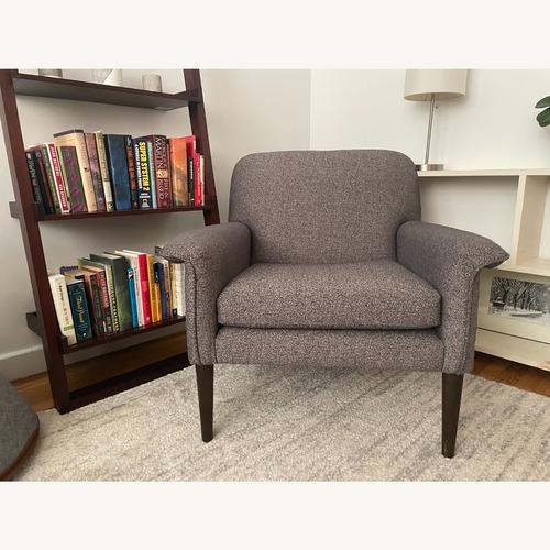 Used West Elm Slate Chenille Tweed Anders Armchair for sale on AptDeco