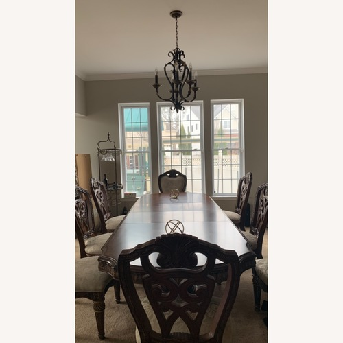 Used Aiko Solid Wood Dining Set with Chairs for sale on AptDeco