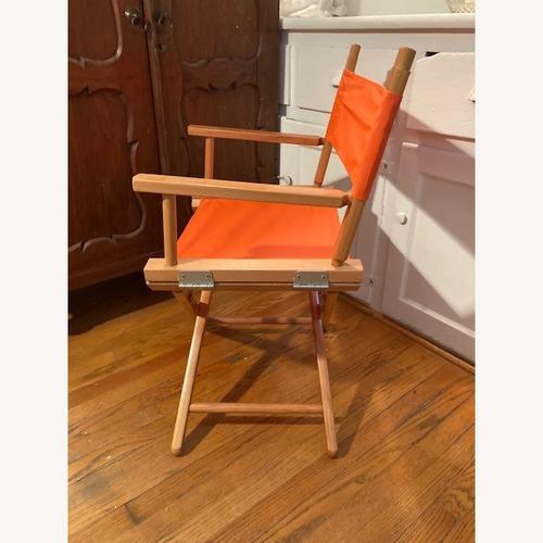 Used Bright Orange Canvas Folding Director Chair for sale on AptDeco