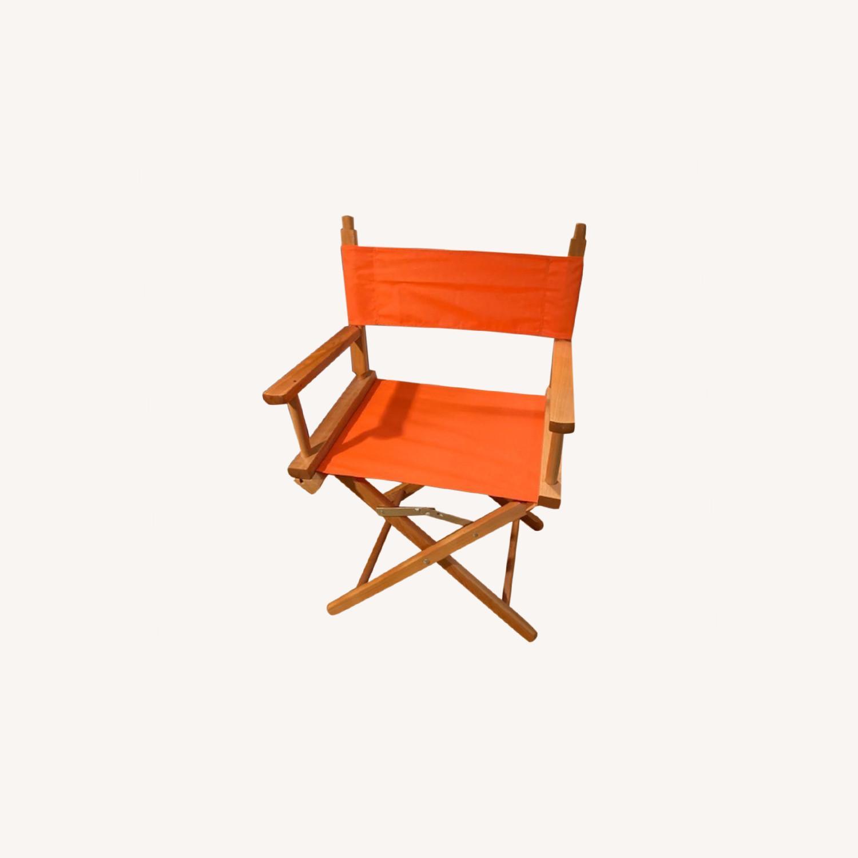 Bright Orange Canvas Folding Director Chair - image-0