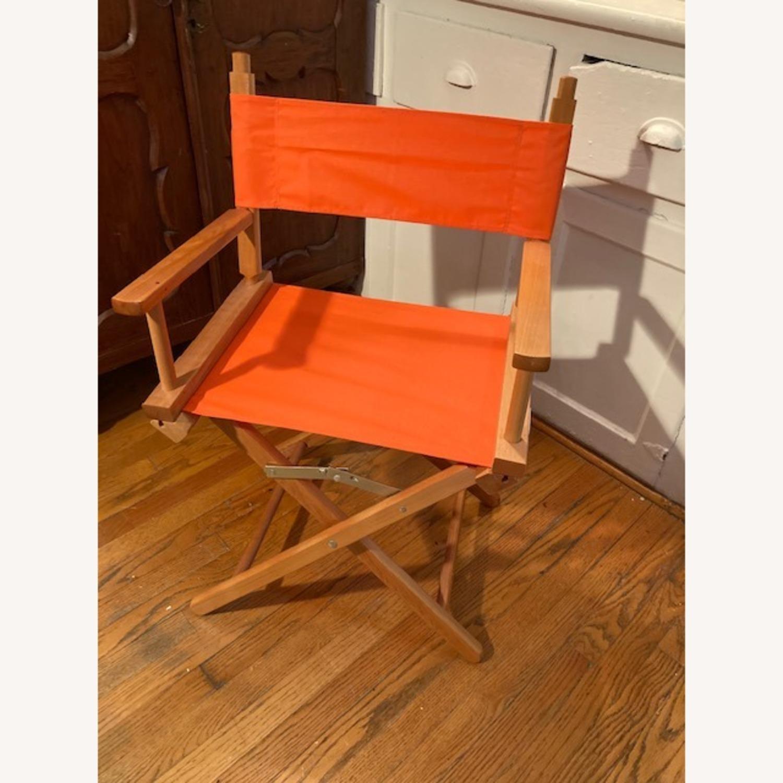 Bright Orange Canvas Folding Director Chair - image-1