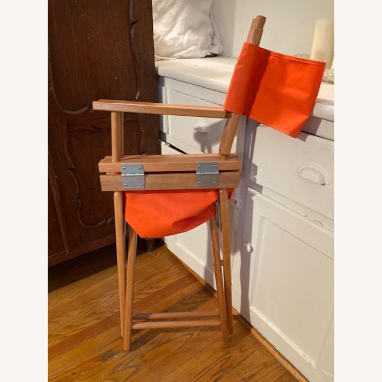Bright Orange Canvas Folding Director Chair - image-5