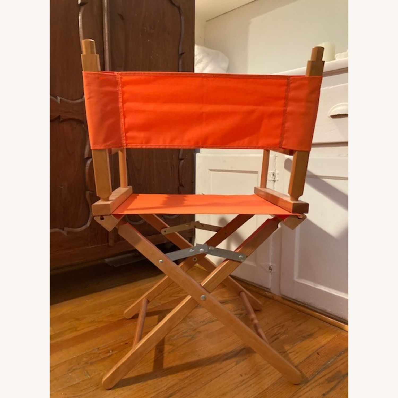 Bright Orange Canvas Folding Director Chair - image-3