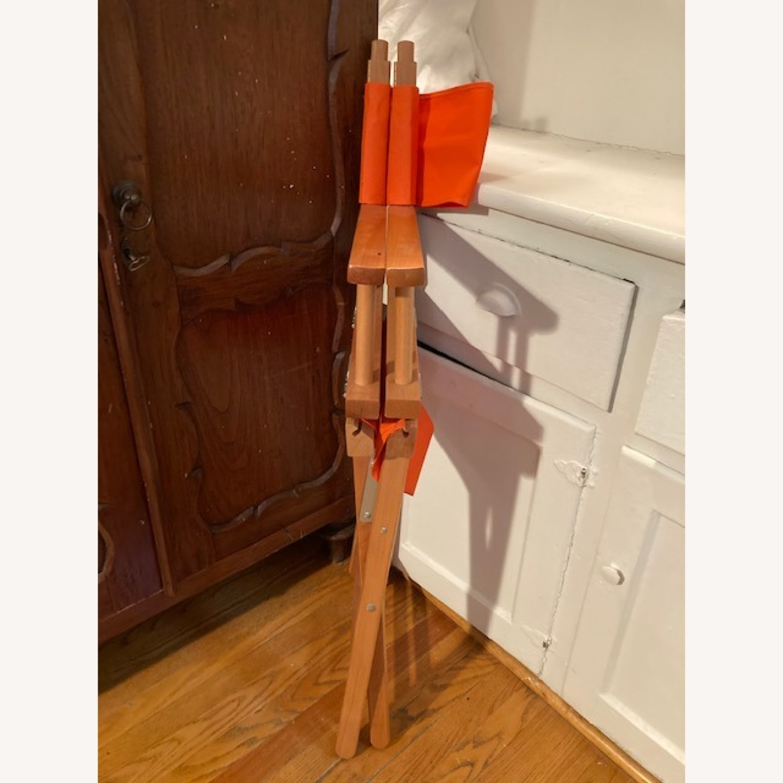 Bright Orange Canvas Folding Director Chair - image-4